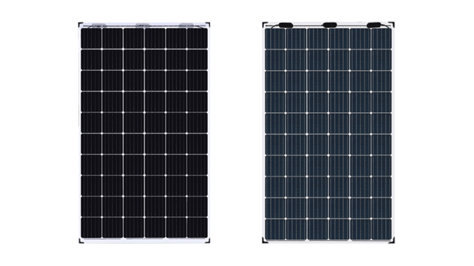 Front and Back of JA Solar Bifacial Modules