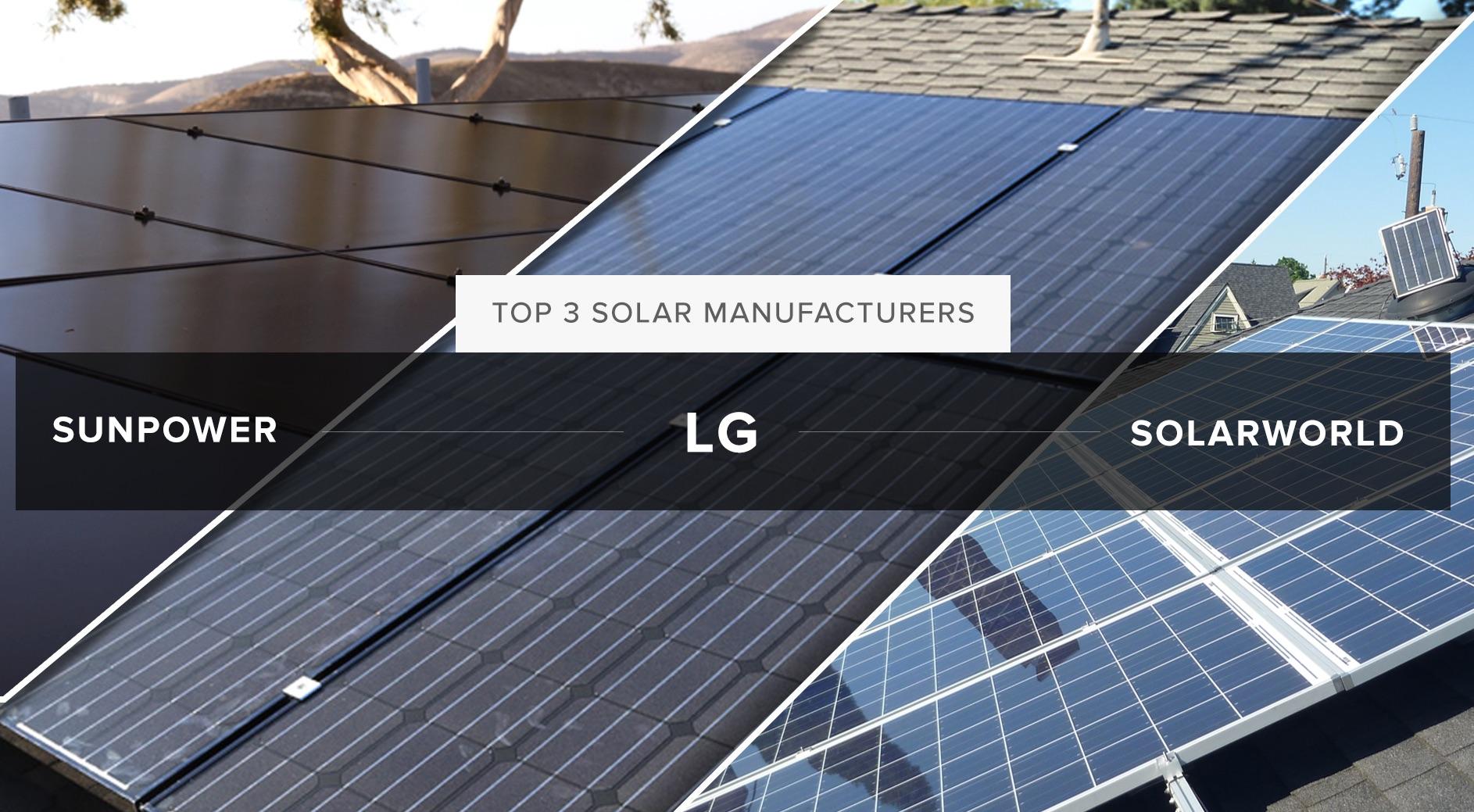 Top three solar manufacturers