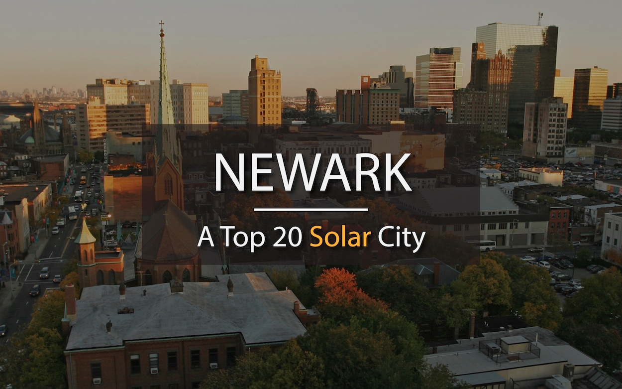 Newark, New Jersey. A Top 20 Solar City.