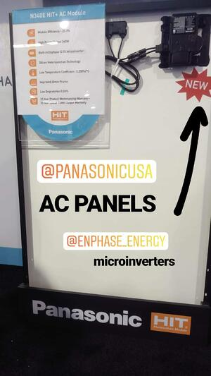 Panasonic AC Panels with Enphase Microinverters