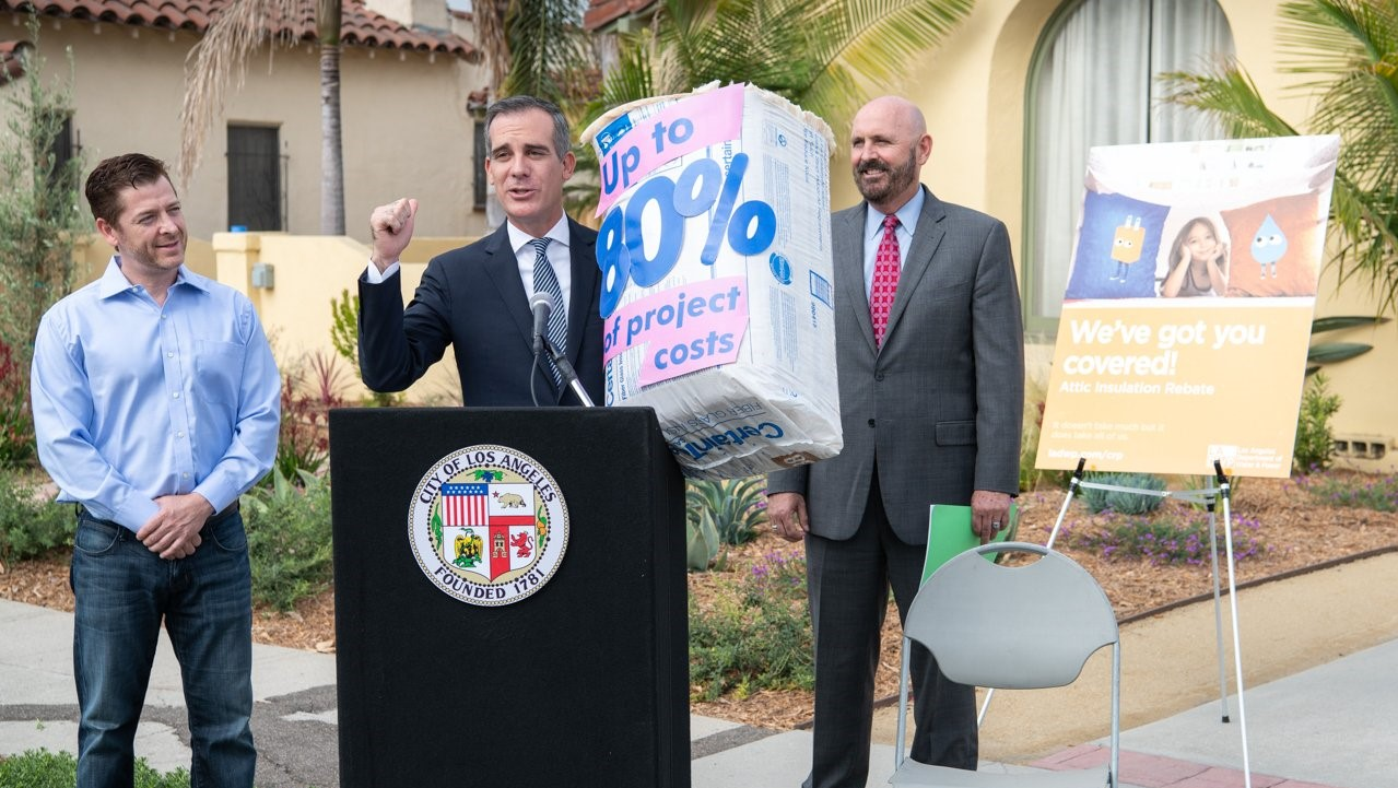 Mayor Garcetti Announces LADWP New Attic Insulation Incentive