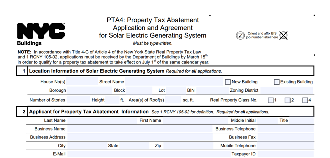 NYC-Tax-Abatement-Application-Form