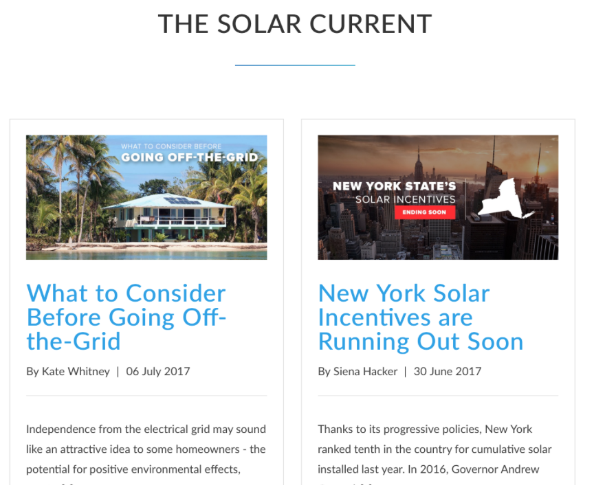 Solar Current