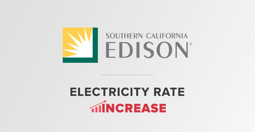 SoCal Edison Electricity Rate Increase 2018