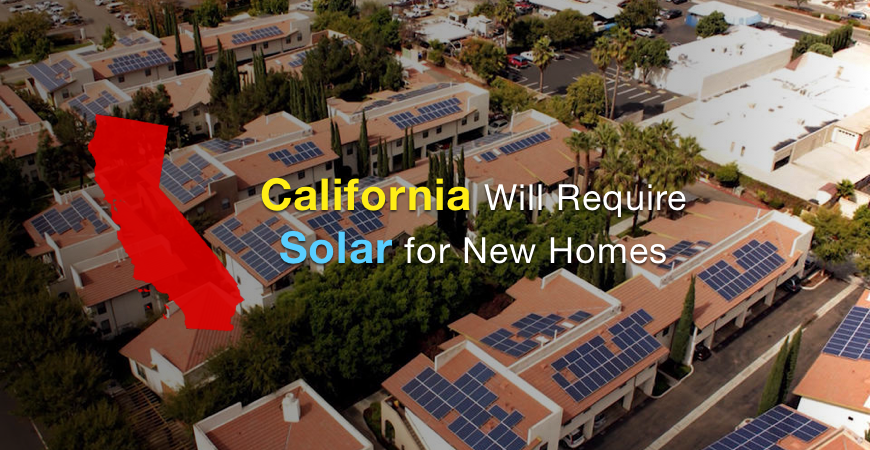 California will require solar for new homes