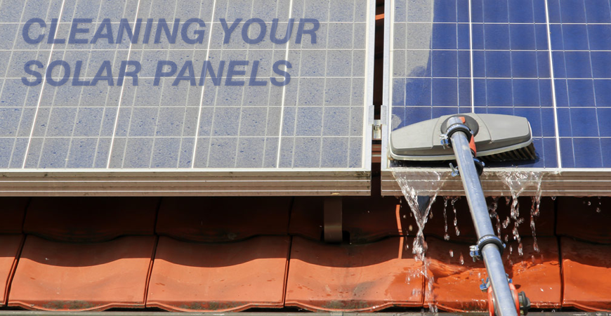 What is the best way to clean solar panels?