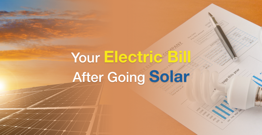 Your electric bill after going solar