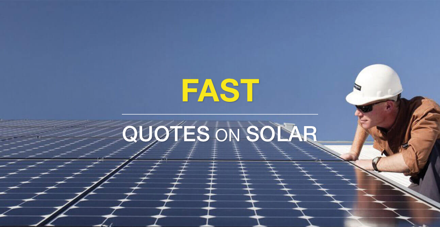 How to get fast quotes on solar for your home
