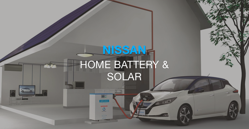Nissan debuts a home solar and battery system