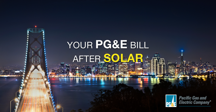 Your PG&E bill after going solar