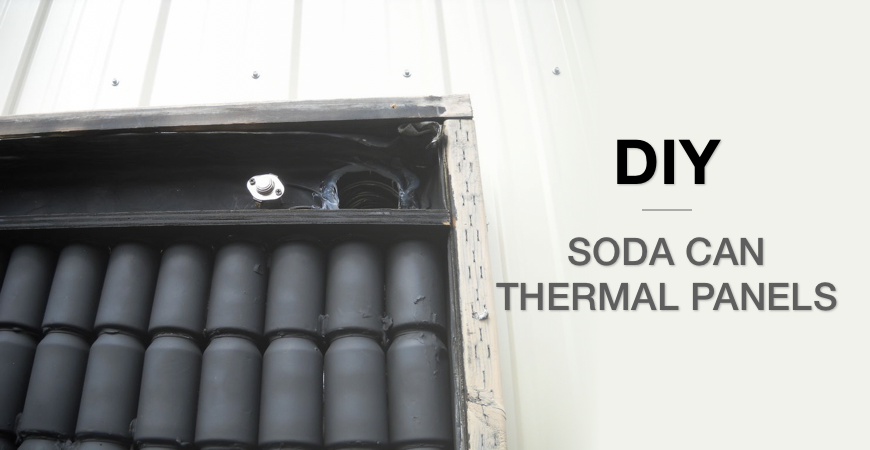 Do it yourself soda can solar thermal panels
