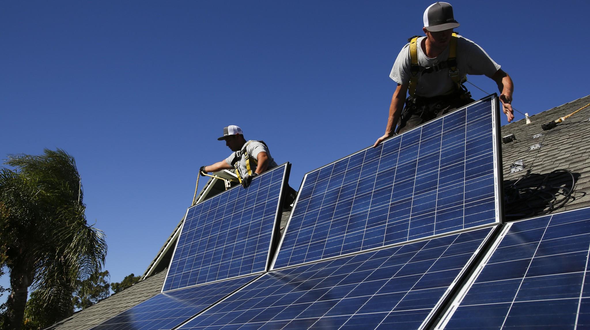 Solar installation in LADWP territory