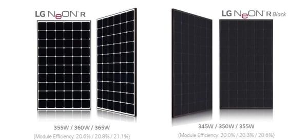 LG Solar Neon R Panel Options