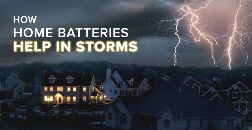 How Home Batteries Help in Storms