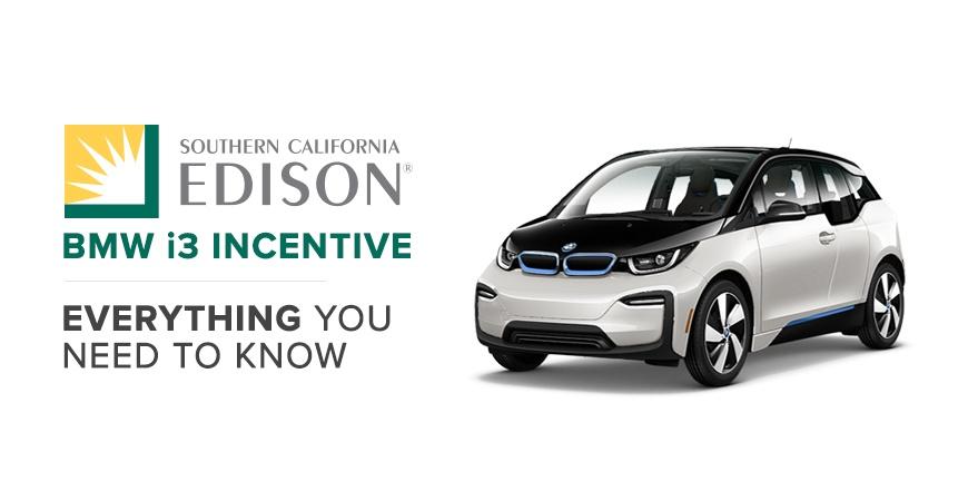 SoCalEdison BMW i3 Incentive