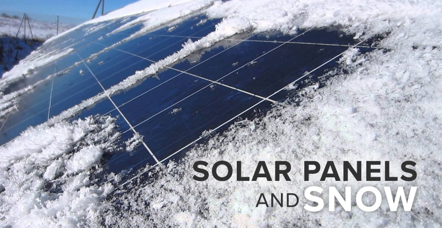 Here's how solar panels are affected by snowy climates