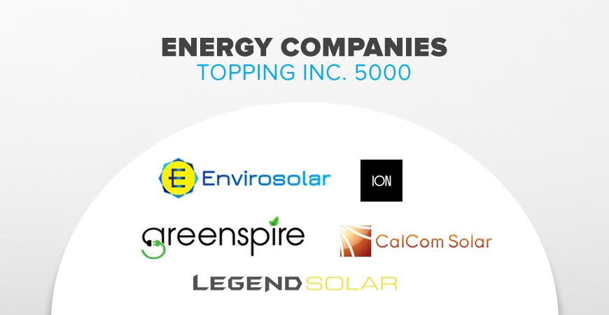 Inc. 5000 Top Energy Companies
