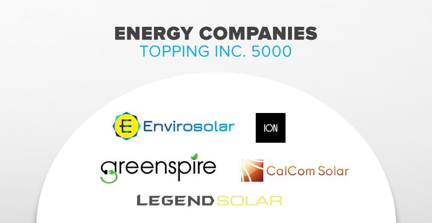 Inc. 5000 Top Energy Companies