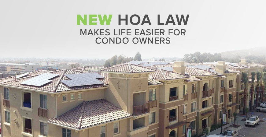 New California HOA Solar Law