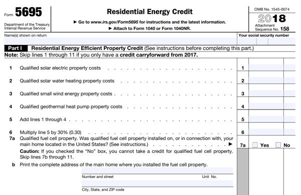 Solar Tax Credit Form 5695