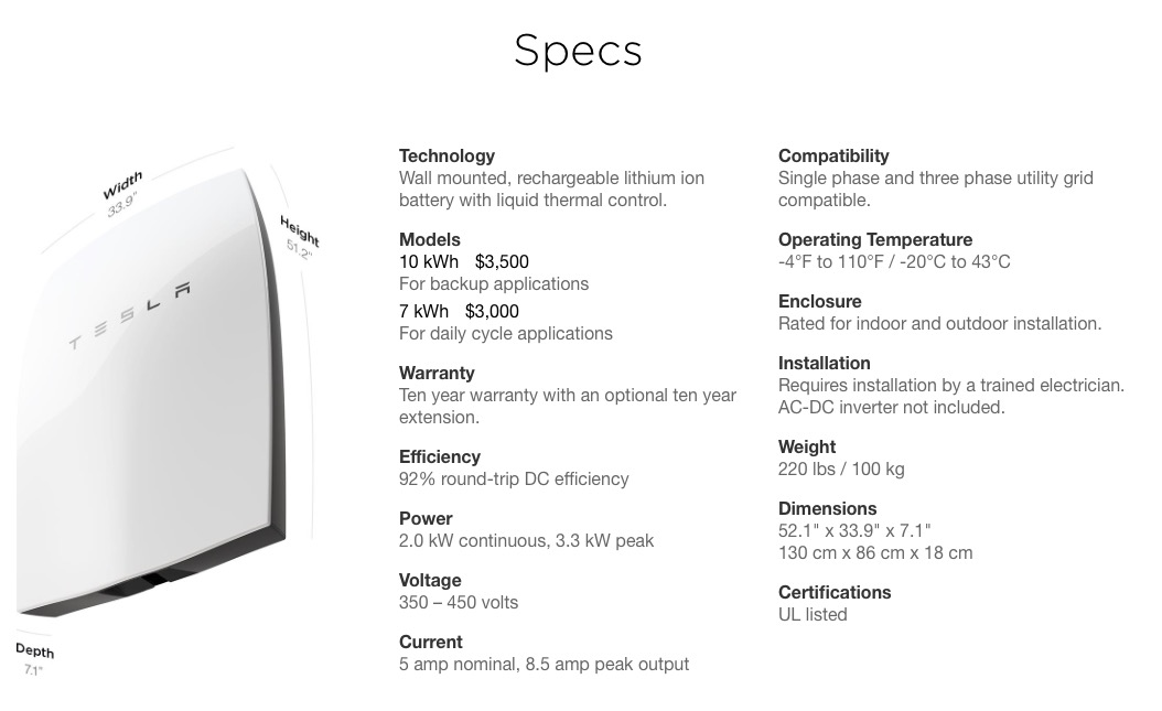 Tesla Powerwall Cost >> Tesla S Powerwall A Viable Home Energy Storage System
