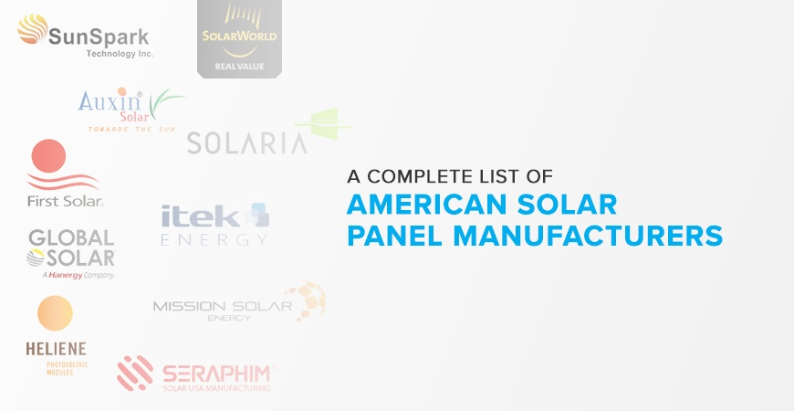 American Solar Panel Manufacturers - 2018 Complete List