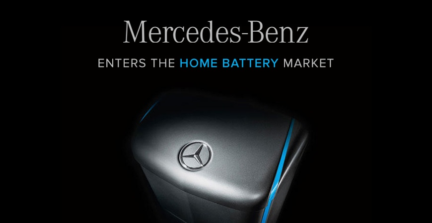 Mercedes benz has decided to enter the us home battery market for Mercedes benz energy storage system