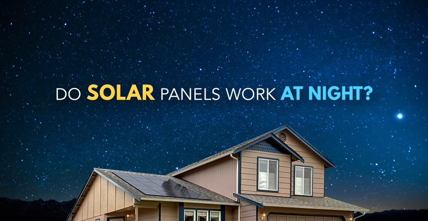 how to make a solar panel work at night