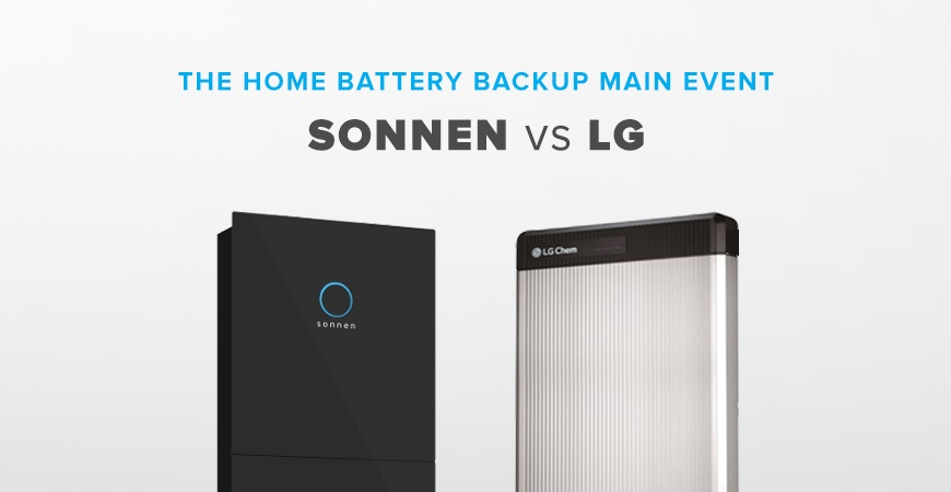 Home Battery Backup Main Event - sonnenBatterie vs. LG